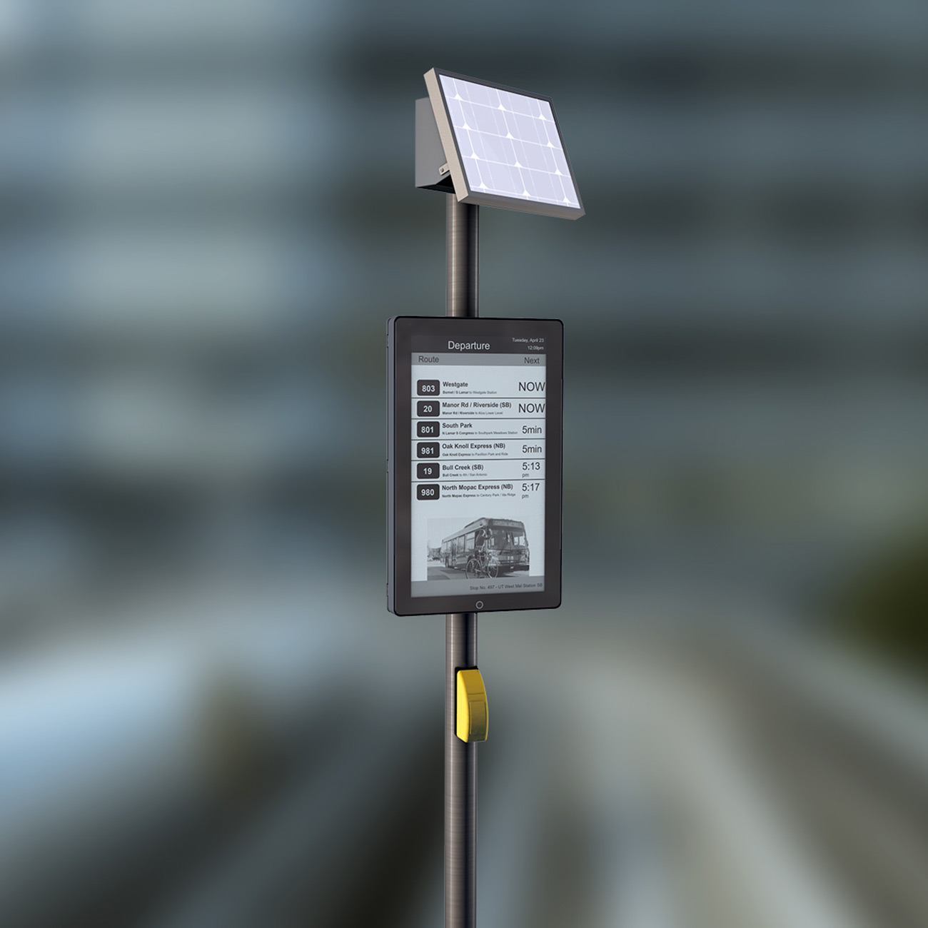BUS AND TRAM PLATFORM DISPLAYS